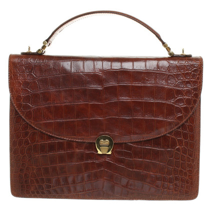 Aigner Handbag with reptile embossing