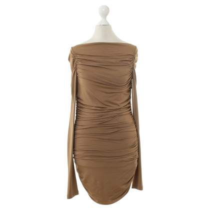 Elisabetta Franchi Strapless dress in hazelnut Brown
