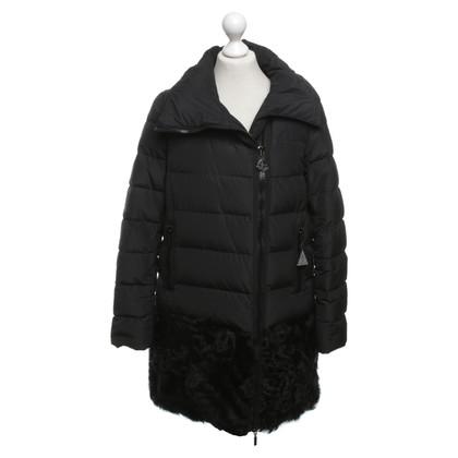 Moncler Down coat with fur trim