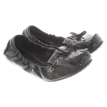 Car Shoe Patent leather ballerinas