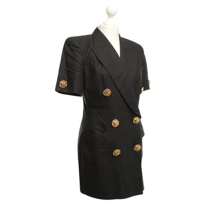 Rena Lange blazer di lino a maniche corte