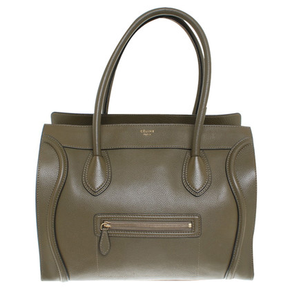 "Céline ""Luggage Shoulder Bag"" in Khaki"