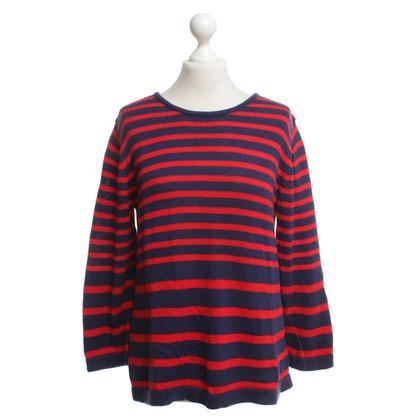 Strenesse Gebreide trui in de kleuren rood / blauw