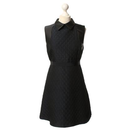 Tara Jarmon Dark blue dress with quilt pattern