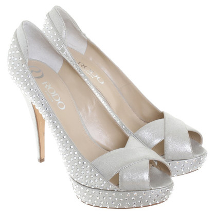 Other Designer Rodo - peep-toes with semi-precious stones