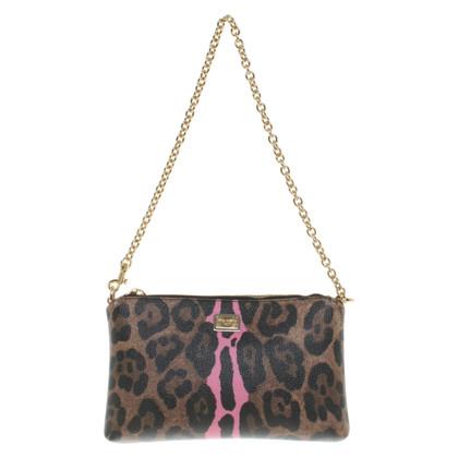 Dolce & Gabbana Clutch mit Leoparden-Print