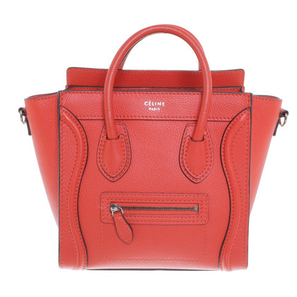 "Céline ""Nano Bagage Bag"" in Orange"