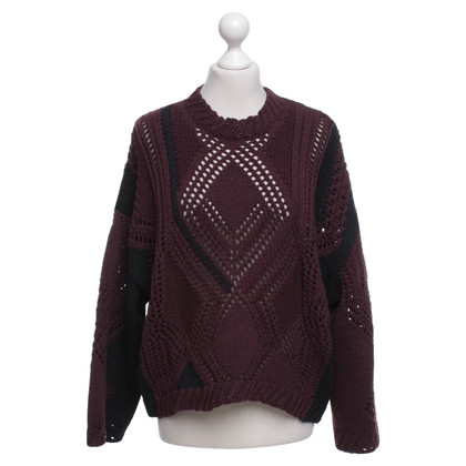 Phillip Lim Sweater in plum / black
