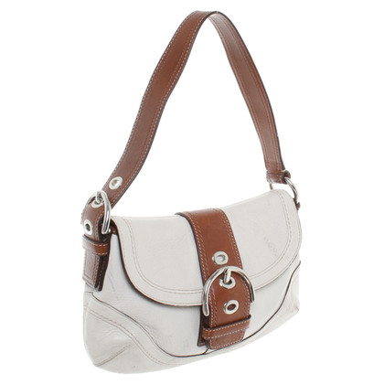 Coach Borsa a tracolla in beige/marrone
