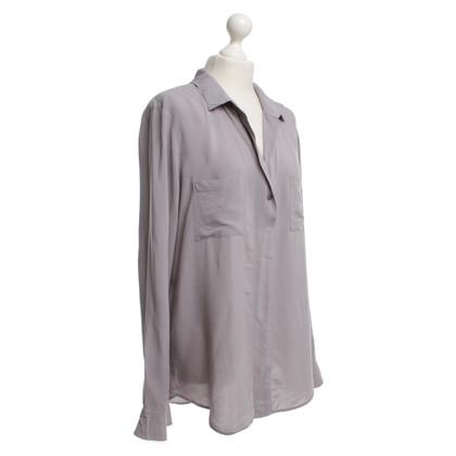 Velvet Bluse in Grau