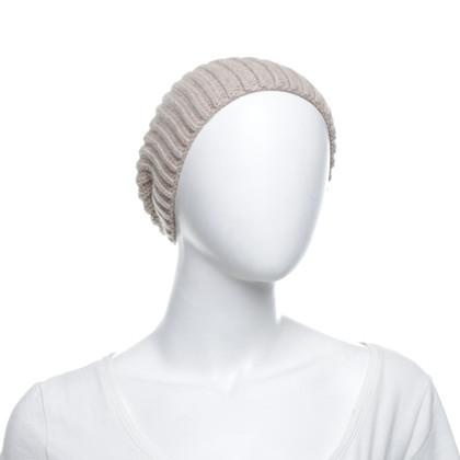 Loro Piana Bonnet en cachemire beige