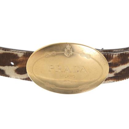 Prada Cintura con stampa leopardo