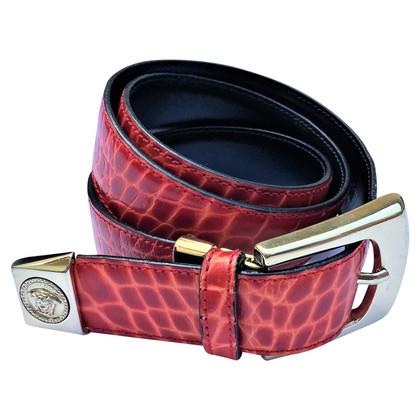 Versace Python leather belt