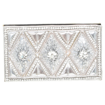 H&M (designers collection for H&M) clutch with semi-precious stones