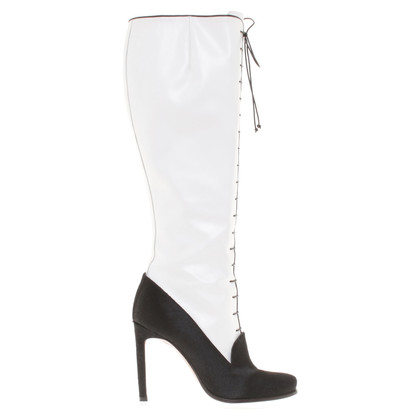 Santoni Boots in black/white