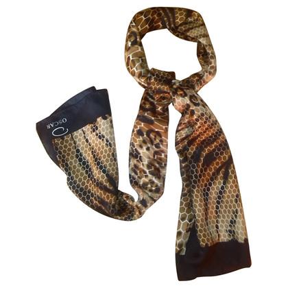 Oscar de la Renta Animal-print silk scarf