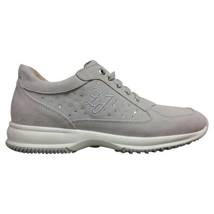 Liu Jo Grijze suede sneakers