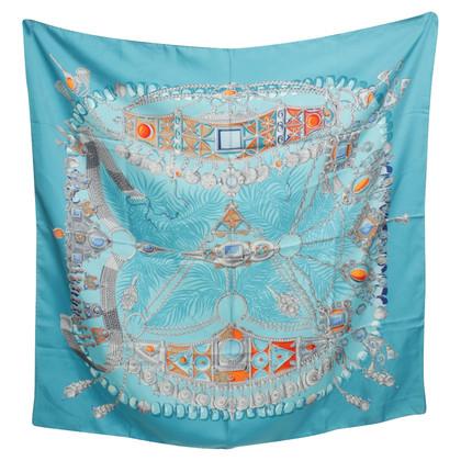 Hermès Silk scarf with Jewelry Print