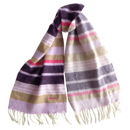 DKNY Striped wool scarf