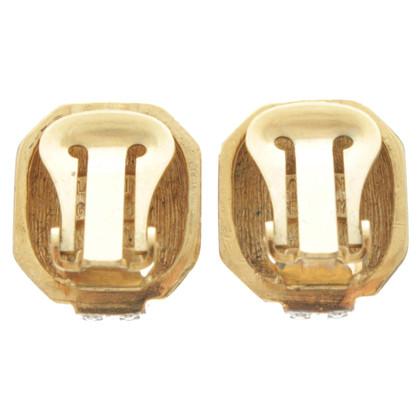 Lanvin Clip oorbellen met edelstenen