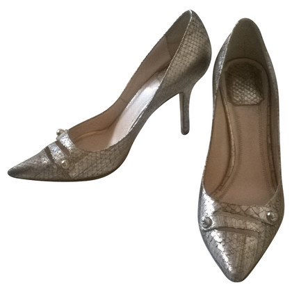 Christian Dior pumps from python leather