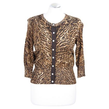 Karen Millen Sweater with animal print in brown