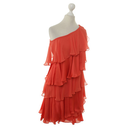 Halston Heritage One-shoulder dress with flounces