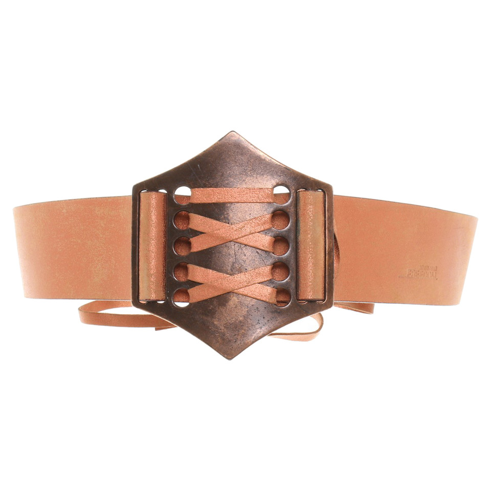 roberto cavalli copper colored leather belt buy second