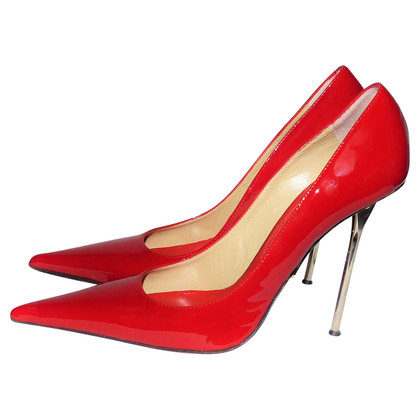 Gianmarco Lorenzi Pumps aus Lackleder