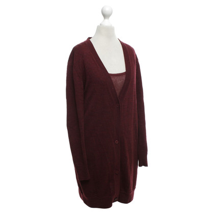 American Vintage Top & Cardigan in Bordeaux