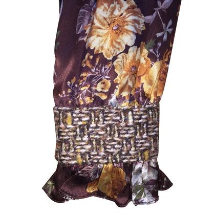 D&G Seidenbluse mit Blumen-Print