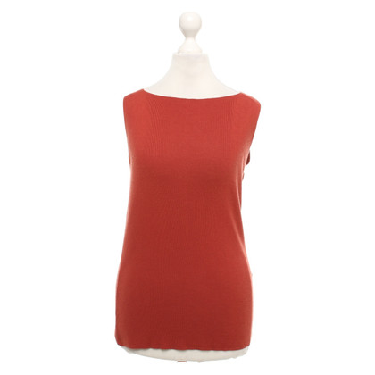 René Lezard Top in rosso / marrone