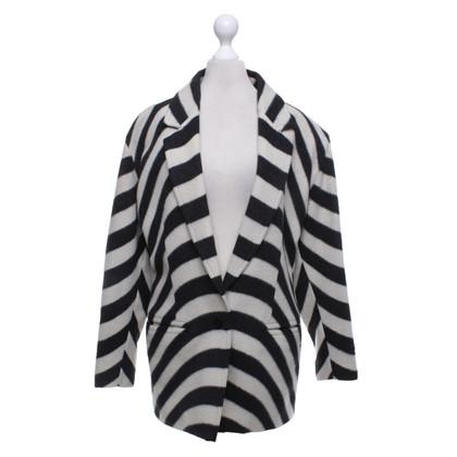 Versace Manteau en laine surdimensionné