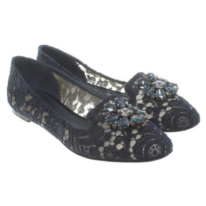 Dolce & Gabbana Ballerinas in Blau