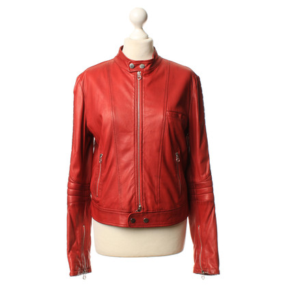 Jet Set Lederjacke in Rot