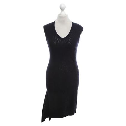 Karen Millen Gebreide jurk in donkerblauw