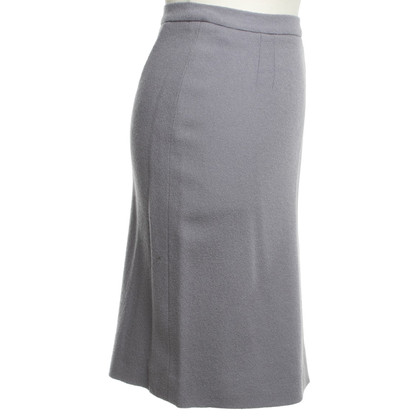 Christian Dior skirt in pigeon blue