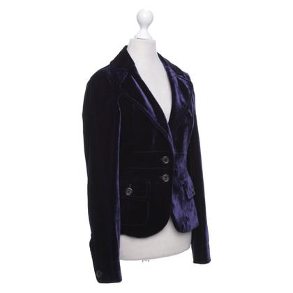 Hugo Boss Fluwelen blazer in paars