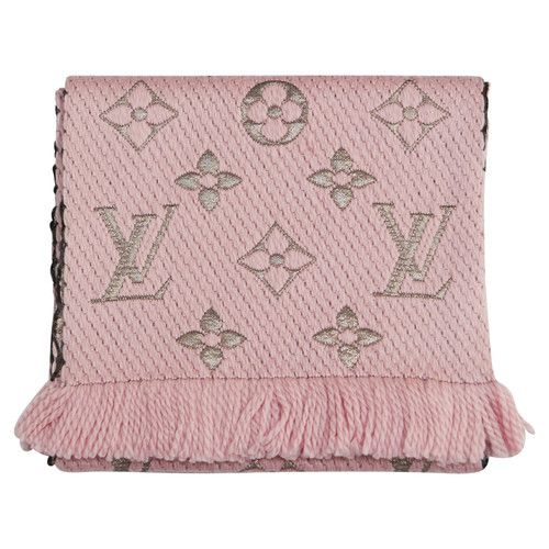 920b69ad606b Louis Vuitton Scarf Shawl Wool in Pink - Second Hand Louis Vuitton ...