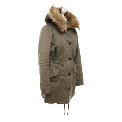 Blonde No8 Parka with real fur