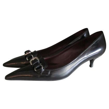 Prada Black kitten heels.