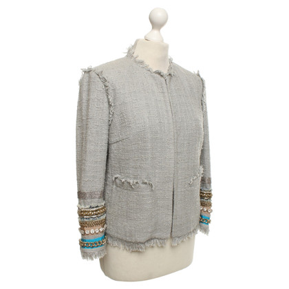 MSGM giacca boucle in grigio