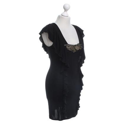 Karen Millen Dress with flounces in black