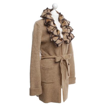 Roberto Cavalli Trui met een grote kraag jas