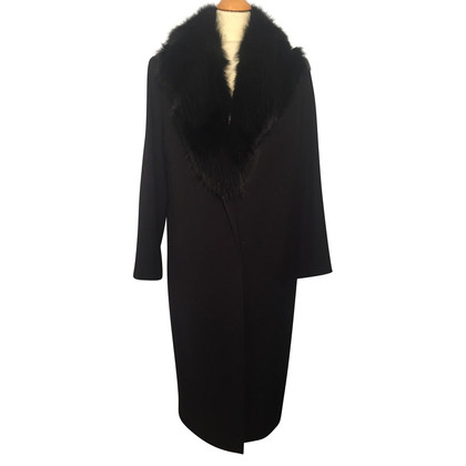 Gucci Long coat with fur collar