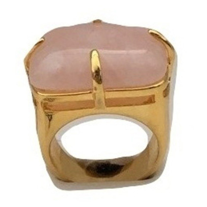 Carolina Herrera CH aventurine ring