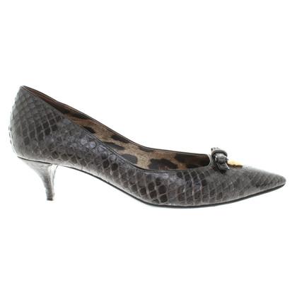 Dolce & Gabbana Pumps in Reptil-Optik