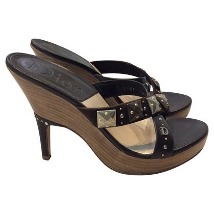 Christian Dior sandalo di legno
