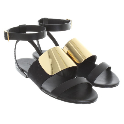 See by Chloé Sandals in gold/black