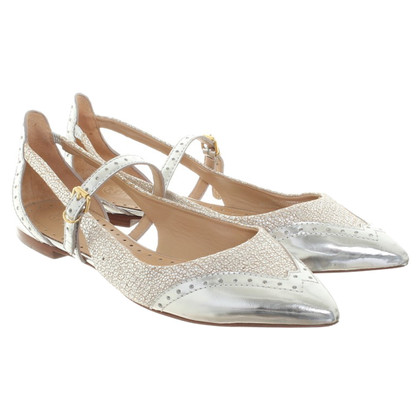 Tory Burch Ballerinas in silver look